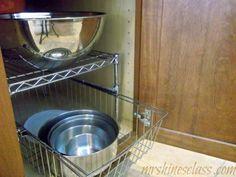 frugal kitchen organizing