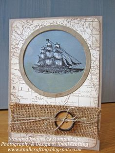 Knall Crafting! Gorgeous Masculine Card for any occasion using The Open Sea and World Map Stamps from Stampin' Up!