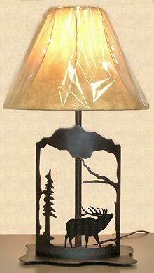 The Big Red Neck Trading Post - Wildlife Decor Elk Metal Art Table Lamp, $110.99 (http://www.thebigrednecktradingpost.com/products/wildlife-decor-elk-metal-art-table-lamp.html)