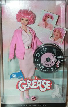 Barbie Doll Grease 30 Years Movie Frenchy Mattel 2008 Pink Label Collection
