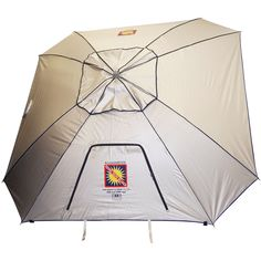 9 Ft. Extreme Shade Total Sun Block Beach Umbrella Shelter w/ Window and Anchor - Silver