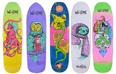 awesome art! welcome skateboards