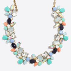 Crystal petal party necklace
