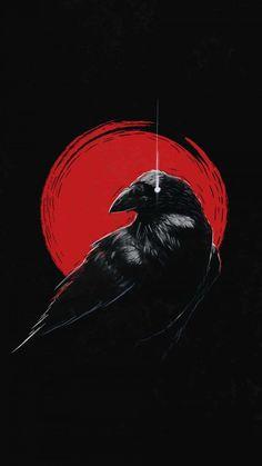 Dark Raven iPhone Wallpaper - iPhone Wallpapers