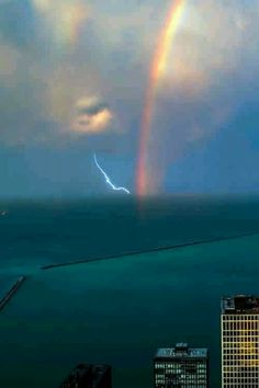 Storms and a rainbow: Thor hates leprechans.