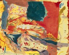 helen frankenthaler paintings | Helen Frankenthaler is known for her large scale paintings made with ...