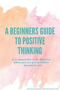 Negative thinking can harm our health. Learn how to take control of your thoughts and gain your health back.