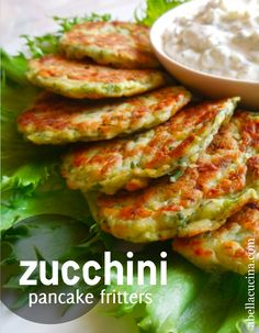 Light, savory zucchini pancake fritters with a cool tangy yogurt dressing – these tasty little fritters can easily be made ahead of time and enjoyed hot or at room temperature. It's a h…