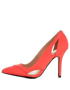 Qupid Cut-Out Pointed Toe Pumps: Charlotte Russe #CRshoecloset #heels