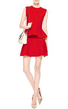 Knit Wool-Blend Flared Mini Skirt by Antonio Berardi - Moda Operandi