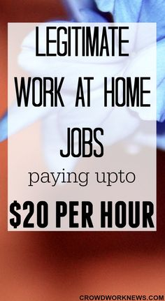 Are you searching for legitimate online jobs that pay up to $20 per hour? Check out this list of work-at-home jobs which pay around $20/hour. #workfromhome #jobsearch #workathome