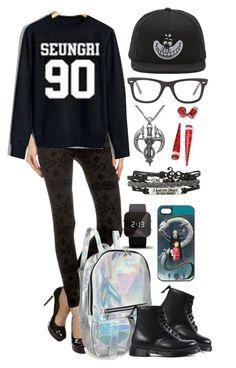 """BIGBANG Seungri Fan Autumn Outfit"" by minyxxngi ❤ liked on Polyvore featuring moda, Dr. Martens, Vans, Ray-Ban, Carolina Glamour Collection, 1:Face, bigbang, kpop, VIP e seungri"