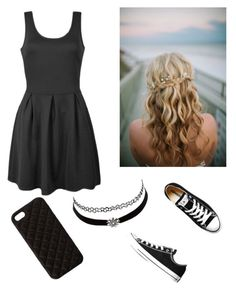 """""""Dark Style ♥♥"""" by rita-iuri ❤ liked on Polyvore featuring Ally Fashion, Converse, Charlotte Russe and The Case Factory"""
