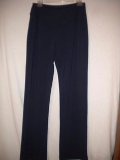 "Boston Proper Size Small X 32"" Inseam Navy Elastic Pullon Womens Travel Pants #BostonProper #Pullon"