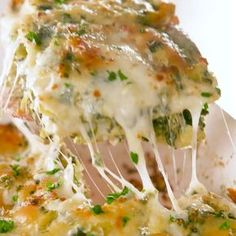 Spinach Artichoke Ravioli Bake - Cook up a ravioli bake for dinner with this recipe I Love Food, Good Food, Yummy Food, Vegetarian Recipes, Cooking Recipes, Healthy Recipes, Vegetarian Lasagna Spinach, Cooking Videos, Meal Recipes