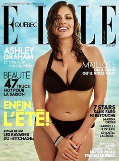 Ashley Graham on Elle Quebec Cover, #toniplus #plussize