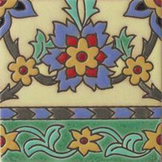 "Handcrafted relief tile ""Saffron Flower""  #mymexicantile"