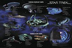 Star Trek Poster Famous Starfleet Ships Collage (101,5cm x 68,5cm) + Geschenkverpackung. Verschenkfertig!