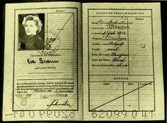 Eva Braun's Personalausweis identification document