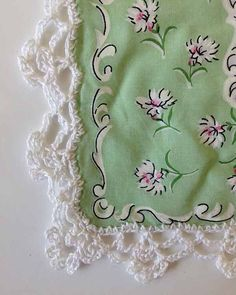 If you have ever wanted to add lace to the edge of handkerchiefs or pillowcases and didn't know where to start, the Lace Edgings pattern will help you out. Add the beautiful elegant crocheted lace edges featured in this pattern to hankies, pillow cases and more. You can even work the edgings in heavier threads or yarns to put on towels or receiving blankets. Anything that needs a pretty or lacy edging can benefit from one of the designs in this pattern. The edges shown in the sample ar
