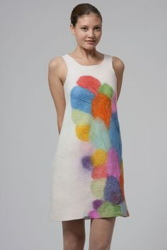felt | dress | source?? hmm... feltworks.wordpress.com