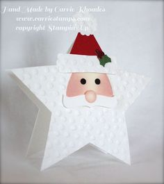 Stampin' Up! ...  handmade Christmas card ...  Santa Punch Star ... adorable!!