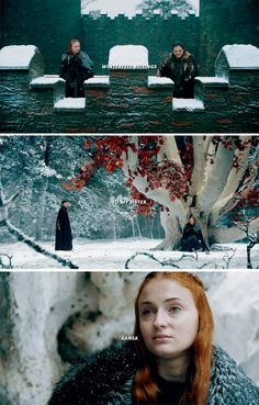 """""""Which would you have as Lord of Winterfell, Snow? The smiler or the slayer?"""" Jon said, """"Winterfell belongs to my sister Sansa."""" #asoiaf"""