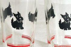 Scottie Dog collectable glassware - vintage swanky swig