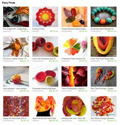 #EtsyTreasury Time! Hot home decor ideas include sunburst hand crocheted doily by Tabachin, Shaft of Light canyon photography print by Soul Centered Photo Art and aquariann's fire dragon art magnet.