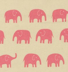 pink elephant fabric...would love to do Ella's curtains with this