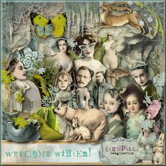"itKuPiLLi Imagenarium ""Welcome Wintert"" @ Mischief Circus. A digital image kit for your art, mixed media, collage, ATCS, photo manipulation and scrapbooking."