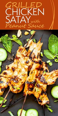 Make your own homemade chicken satay, a popular Southeast Asian street food (and restaurant appetizer here in the States!), at home with a delicious marinade! Give it a quick turn on the grill and it's ready in just minutes.  #chicken #chickensatay #streetfood #simplyrecipes