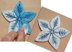 So Pretty! Clay Ornaments You Can Make - Cloth Paper Scissors #handmade #snowflakes