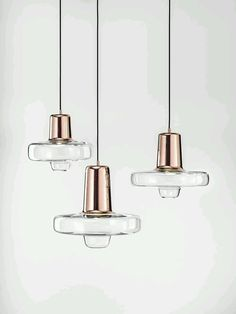 Lighting design: glass and gold, interior design accents, Spin Light by Koldová Lucie - Lasvit