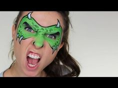 Monster Mask Face Painting Tutorial - YouTube
