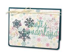 Winter Wonderland Card - click through for project instructions.
