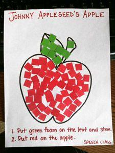 Homemade Apple Art and Apple Juice - Speech Therapy Ideas
