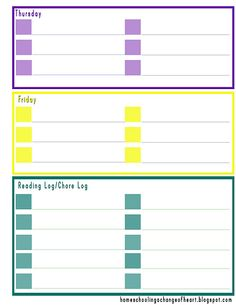 Weekly Student planner Printable