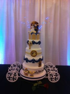 I love this but I wouldnt use it for my wedding. I just wanted to share.Belle ~ Beauty and the Beast ~ Wedding Cake