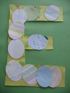 E is for Egg -- glue grass or straw before eggs. Letter Of The Week E ! - No Time For Flash Cards