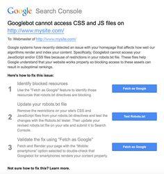 קיבלתם הודעה מגוגל שקבצי CSS ו-JS חסומים? הנה הפתרון Web Seo