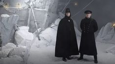 """Left: Captain James Fitzjames (Tobias Menzies), second in command of Franklin's ship, the HMS Erebus. Right: Captain Francis Crozier (Jared Harris), Franklin's expedition second-in-command and commander of the HMS Terror. """"The Terror"""" recounts John Franklin's lost expedition of HMS Erebus and HMS Terror."""