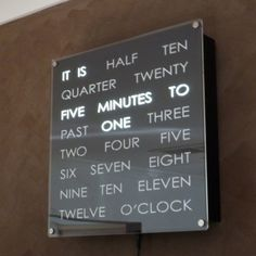Such a cool clock...and we get to MAKE it!