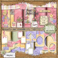 Mother's Day 1 - Digi Scrap / Card Making Kit