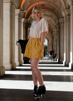 Google Image Result for http://web001.whowhatwear.com/blog/wp-content/uploads/2012/06/STREET-STYLE-BRIGHT-SHORTS-THROUGH-THE-LOOKING-GLASS-BLOG-CREAMOFF-WHITE-POCKET-TEE-MUSTARD-YELLOW-SHORTS-ACNE-SKATE-WEDGE-PLATFORM-BOOTS.jpg