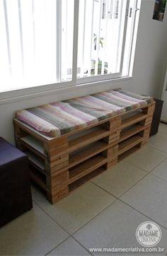 Como fazer um banco de pallets de MDF Pallet bench - Tutorial - How to - DIY - Madame Criativa - www.madamecriativa.com.br