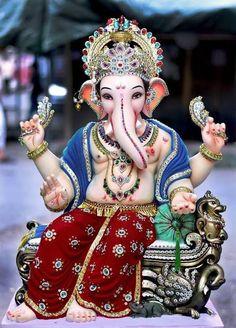 New Cute Lord Ganesha Smiley Wallpaper. Most Famous And Popular Lord Ganesha or bappa wallpaper. Wallpaper by WaoFam. Jai Ganesh, Ganesh Lord, Ganesh Idol, Ganesh Statue, Shree Ganesh, Lord Shiva, Ganesha Art, Ganesh Rangoli, Ganesha Tattoo