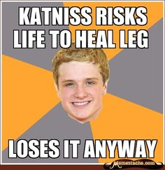 katniss risks life to heal leg