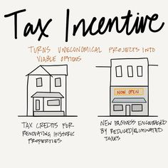 Tax incentives can spur development or maintain quality. #AREsketches