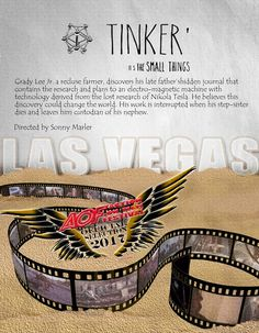 Robin Penninger graphic for Tinker the indiefilm with Christian Kane and Clayne Crawford going to the AOF-Action ON Film International Film Festival August 23rd at 10:00 pm LAS VEGAS NV Ticket information > https://www.actiononfilmfest.com/product-page/tinker